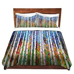 DiaNoche Designs Brushed Twill Home Decor Bedding Cover, Que