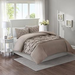 Comfort Spaces King Duvet Cover - Cavoy - Taupe Fashion Bedd