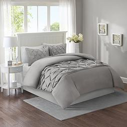 Comfort Spaces King Duvet Cover - Cavoy - Gray Fashion Beddi