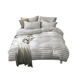 Merryfeel 100% Cotton Jersey Weave Duvet Cover Set -