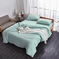 Merryfeel 100% cotton stone washed Duvet Cover Set - Queen