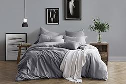 Swift Home 100% Cotton Washed Yarn Dyed Chambray Duvet Cover