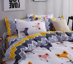 CUTE FOX STYLE KIDS Duvet Cover Bedding Set - TWIN