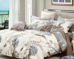 Daisy Silhouette 100% cotton bedding set: 2pc/3pc/5pc duvet