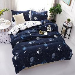 Dark Galaxy Duvet Cover Set Galaxy Kids Bedding Dark Blue St