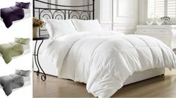 Down Alternative Comforter and Duvet Cover with Pillow Shams
