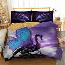 Dragon Quilt Cover/Duvet Cover Set Twin Queen Size Bedding S