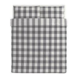 IKEA Duvet & Pillow Cover Set EMMIE RUTA Queen/Full 3pc 100%