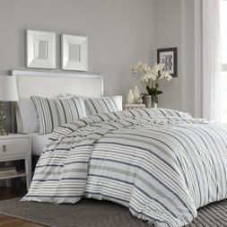 Bedsure Duvet Cover 2 piece Set with Plaid Stripes Pattern I