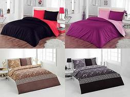 Duvet Cover & Pillow Sham Set - 3 Piece Soft Bedding set 100