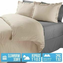DUVET COVER AND SHAMS 1800 Series 3 Piece Duvet Set - King /