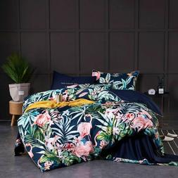 Duvet Cover Fitted Bed Sheets Bedding Set Egyptian Cotton Pr