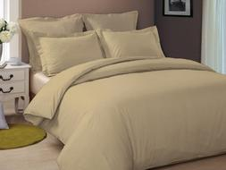 BEDDING HOMES Duvet Cover 3-PC Organic Cotton Luxurious & Ul