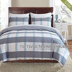 Meiz 3-piece Duvet Cover Set - 1 Duvet Cover and 2 Pillowcas