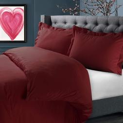 Nestl Duvet Cover Set -Burgundy -Twin size, brand new with t