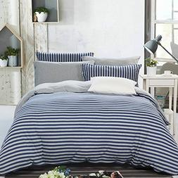 PURE ERA Duvet Cover Set Cotton Jersey Knit Super Soft Comfy