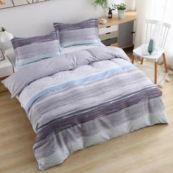 duvet cover set printed 3 piece reversible