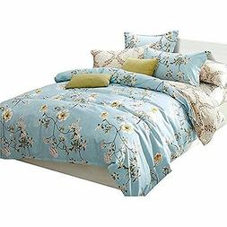 Uozzi Bedding 3 Piece Floral Duvet Cover Set King, Reversibl