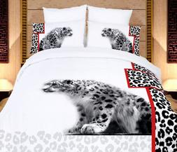Duvet Cover Set Queen Size 6 Piece Safari Themed Luxury Bedd