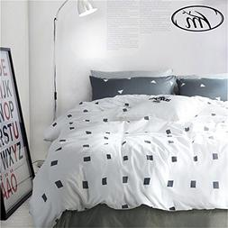 Vougemarket 3 Piece Duvet Cover Set  Duvet Cover with 2 Pill