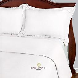 Cosy House Collection Duvet Cover 3 Piece Set - 1500 Series
