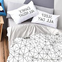 VClife Duvet Cover Sets Queen Bedding Duvet Cover Sets with