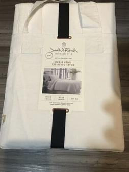 duvet cover twin set linen hearth