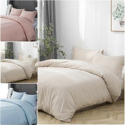 Duvet Quilt Comforter Cover & Pillowcase Set Brushed Microfi