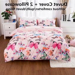 duvet quilt cover set colorful butterfly bedding