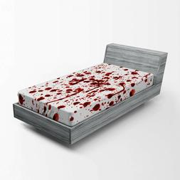 Duvet Twin Cover Set by AmbesonneHorror Splashes of Blood