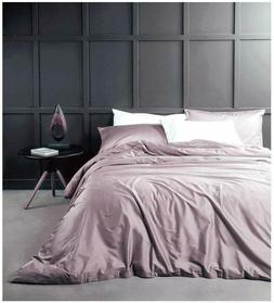 EIKEI EGYPTIAN DUVET COVER SET SATEEN SILKY SOFT GRAY ~ QUEE