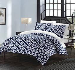 Chic Home Elizabeth 6 Piece Reversible Duvet Cover Set Geome