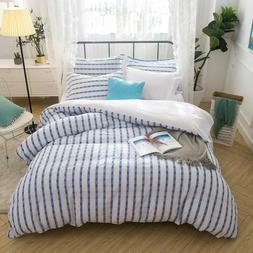 embroidery duvet cover set 100 percent cotton
