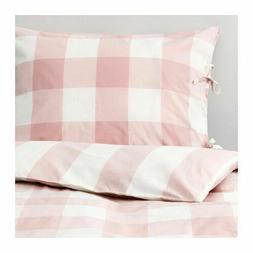 New IKEA EMMIE RUTA Twin Duvet cover and pillowcase,  light