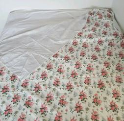 IKEA Emmie Sot TWIN Duvet Cover Roses Stripes Reversible Cot