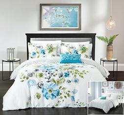 Chic Home 4 Piece Enchanted Garden Reversible floral print a