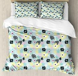 Exotic Summer Duvet Cover Set Twin Queen King Sizes with Pil