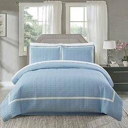 Chic Home Faige 3 Piece Duvet Cover Set Hotel Collection Two