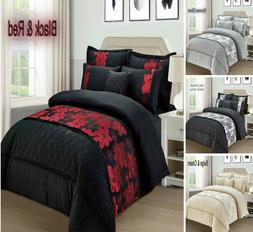 Floral Jacquard 4 Pieces Duvet Cover Bedding Set Pillowcase