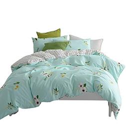 BuLuTu Floral Print Cotton Kids Bedding Sets Twin Boys Girls