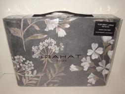 Tahari Floral Queen Duvet Cover Standard Shams Set Charcoal