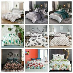 Flowers Soft Duvet Cover Set Twin Queen King Size Bedding Se