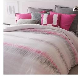 DKNY Frequency pink black king duvet cover cotton