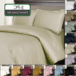 Full/Queen 100% Cotton 300 Thread Count Striped Sateen Weave