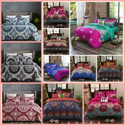 Vaulia Full Queen King Duvet Cover Set Bohemia Reversible Fl