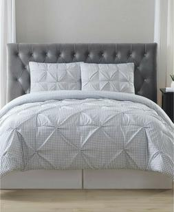 Truly Soft Everyday Gingham Pinch Pleat 3 Pc. Duvet Cover Se
