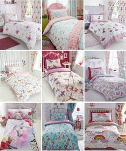GIRLS KIDS BEDDING Pink Duvet Sets Unicorns Horses Owls Fair