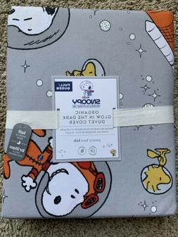 POTTERY BARN KIDS Glow in the Dark SNOOPY Space Duvet Cover