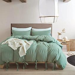 DuShow Green Hotel Quality 100% Egyptian Wash Cotton Duvet C