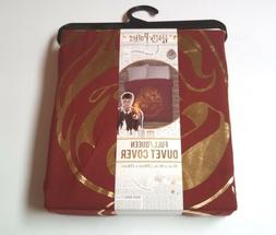 Harry Potter Duvet Cover Full/Queen Size 81x86 Red Gold